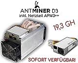 Antminer D3 inkl. Netzteil APW3++ | 19,3 GH/s | Sofort verfügbar | Neu & OVP | X11 ASIC Miner