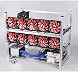 12 GPU Mining rig Aluminum Stackable Open air Mining Case Computer ETH Frame Rig for bitcon Miner Kit Unassembled Ethereum